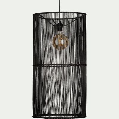 Suspension cylindrique en bambou noir D39xH74cm-FIGANIERES