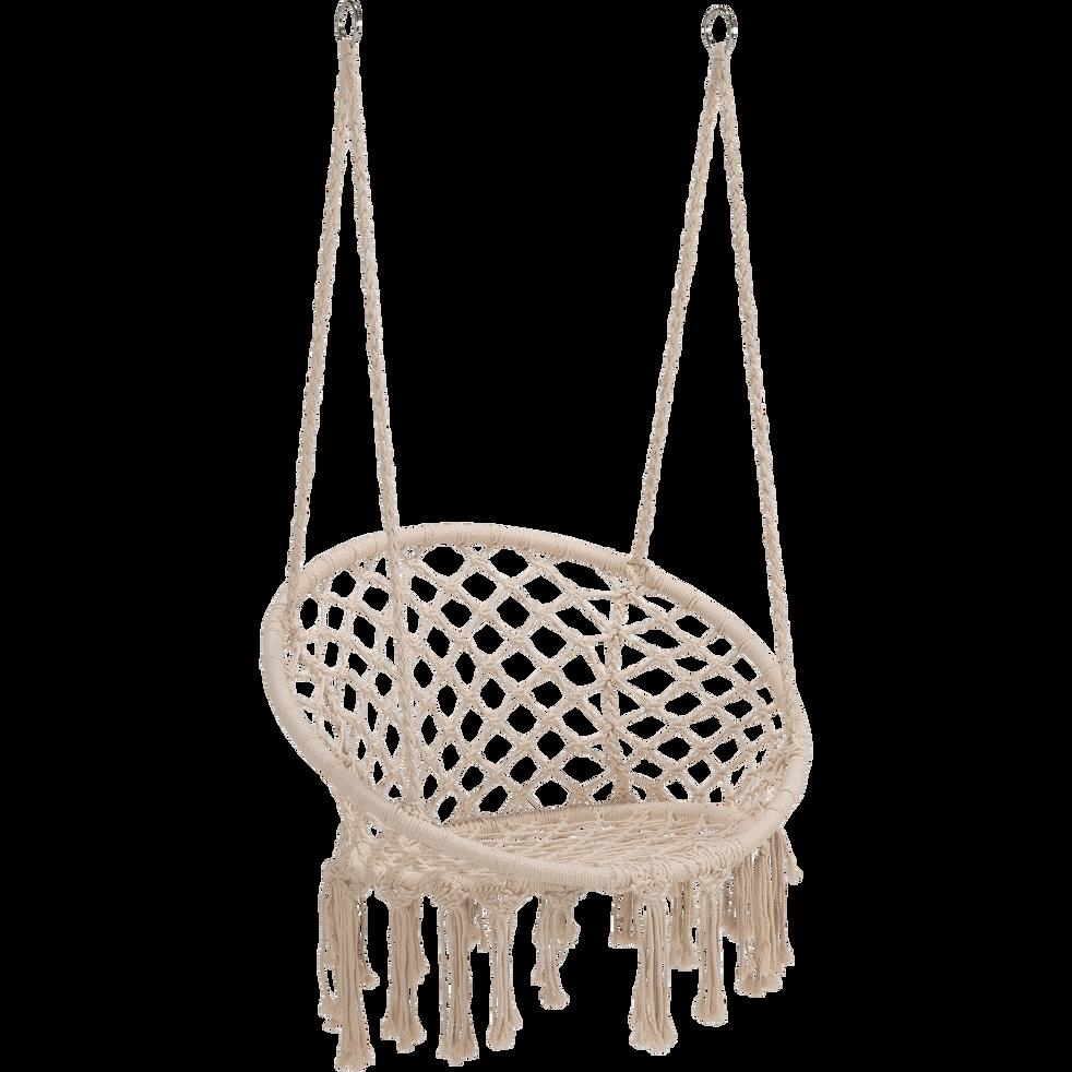 Fauteuil suspendre en corde cru foggia transats alinea - Alinea fauteuil jardin ...