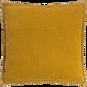 Coussin avec passepoil en polycoton jaune 45x45cm-BINH