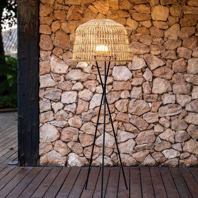 Lampadaire d'extérieur sans fil - naturel H148xD49cm-AMALFI
