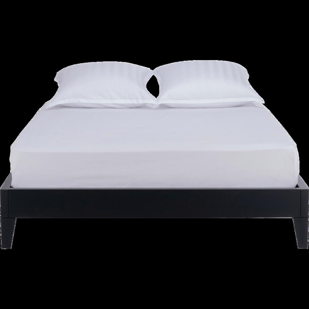lit 2 places en acier noir 140x200 cm lofter 140x200 cm lits adultes alinea. Black Bedroom Furniture Sets. Home Design Ideas