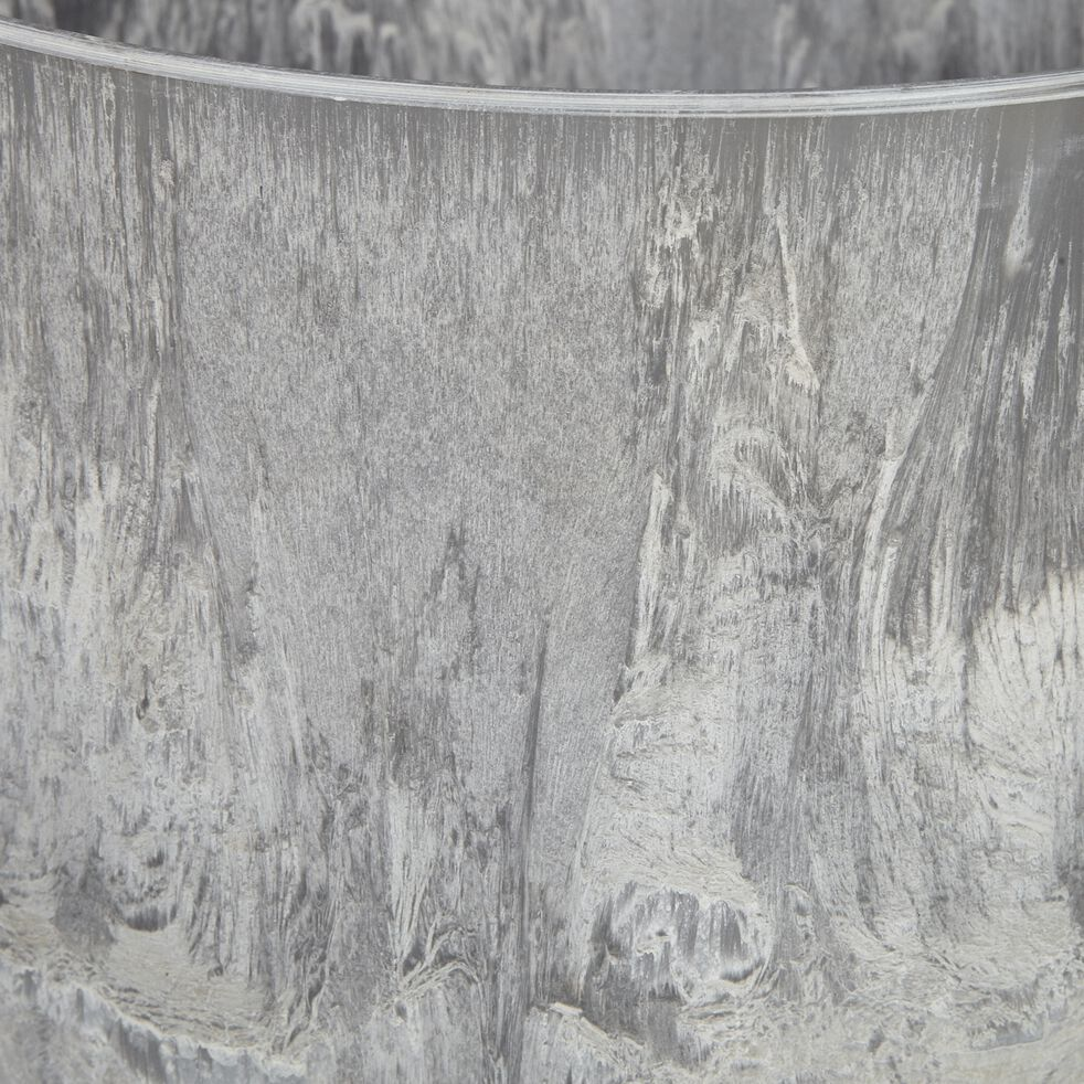 Pot à réserve d'eau - gris H24cm-BOLA