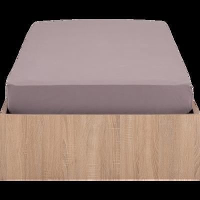 Lit-coffre 90x200cm effet chêne blanchi-BALME