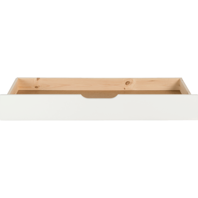 tiroir de lit à roulettes en pin massif blanc nougat-LILOU