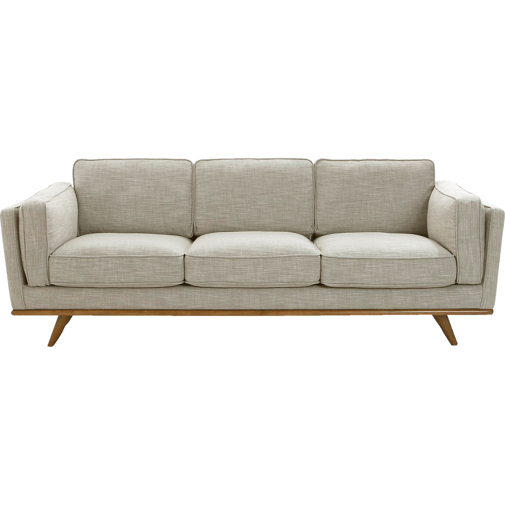 canap 3 places fixe en tissu cru astoria catalogue storefront alin a alinea. Black Bedroom Furniture Sets. Home Design Ideas