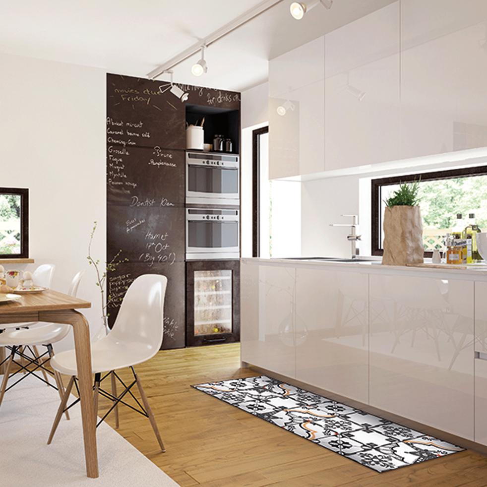 VISTACIMEN1 - Tapis de cuisine carreaux de ciment 50x120cm en vinyle
