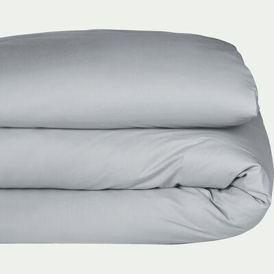Housse de couette en coton - gris borie 260x240cm-CALANQUES