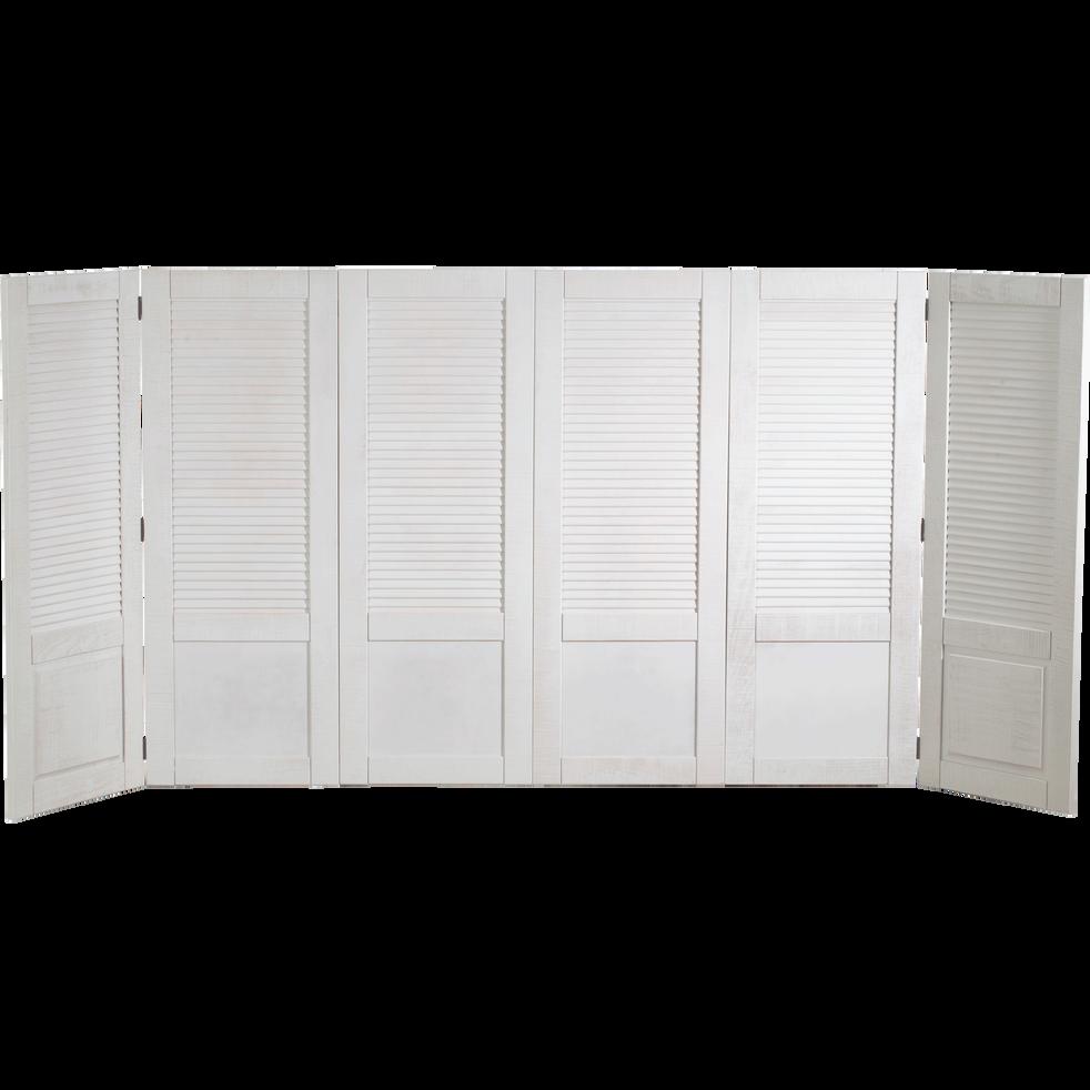 2 panneaux pin brossé en supplément pour tête de lit Jalousie-JALOUSIE