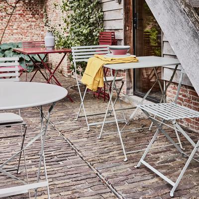 Table de jardin pliante rouge sumac (2 places)-PIMS