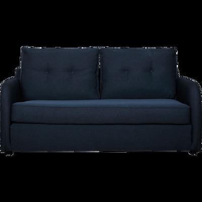 Canapé 3 places convertible déplimousse en tissu bleu myrte-VINYL