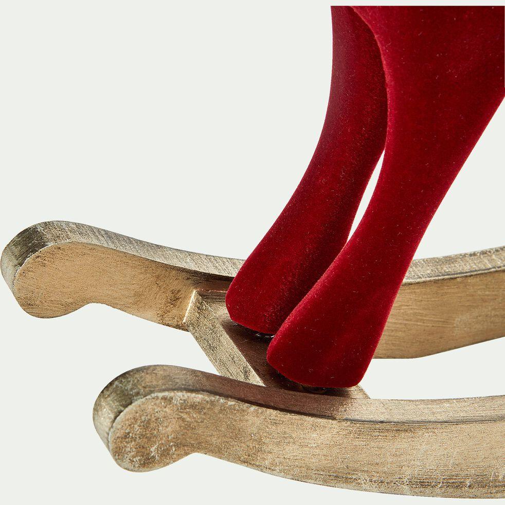 Cheval à bascule rouge H22cm-SOLENCI