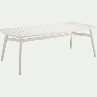 Table de jardin en aluminium - blanc (4 à 6 places)-TRAPEZI