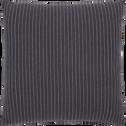 Coussin en coton sergé à rayures 40x40cm-ALPHONSE