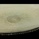 Assiette de présentation en verre beige D33cm-RADIEUX