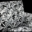 Canapé 3 places fixe en tissu motifs INK.30-CALIFORNIA