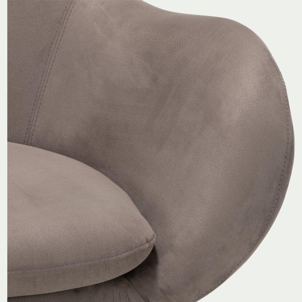 Fauteuil de salon en tissu dossier haut - gris borie-MARAGE