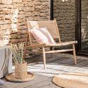 Fauteuil de jardin en paille et teck - naturel-EPHESE