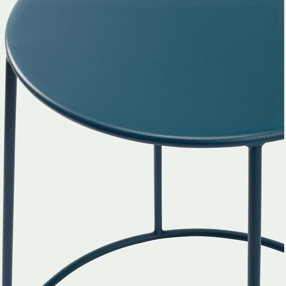 Table d'appoint de jardin - bleu figuerolles (D35cmxH63cm)-IKARIA