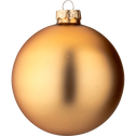 4 boules de Noël en verre doré D10cm-NANS