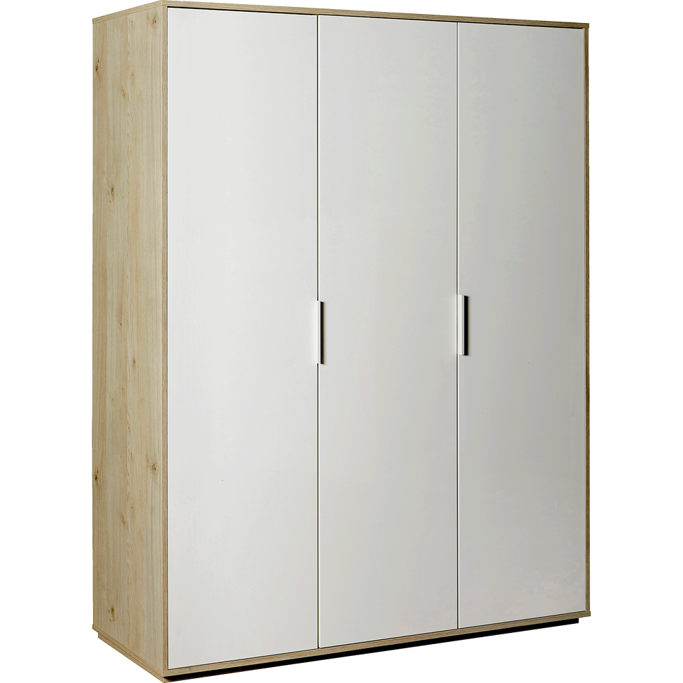 armoire 3 portes battantes effet ch ne clair milano armoires alinea. Black Bedroom Furniture Sets. Home Design Ideas