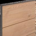 Lit 2 places bois et métal Noir - 160x200 cm-GASPARD