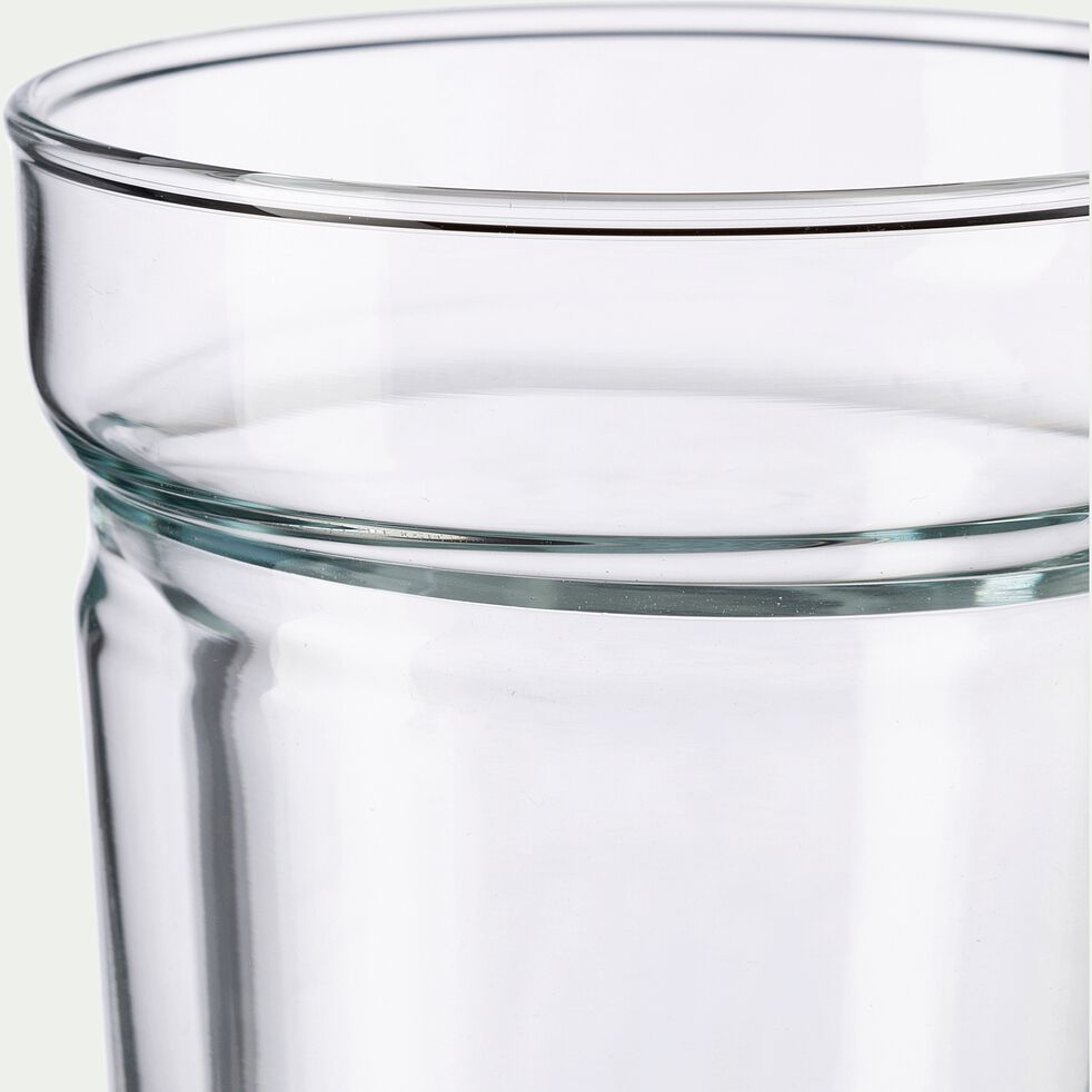 Lot de 2 tasses en verre transparent 20cl-ALCENE