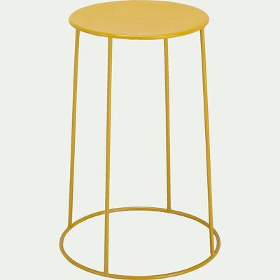 Table d'appoint de jardin - jaune argan (D35cmxH63cm)-Ikaria