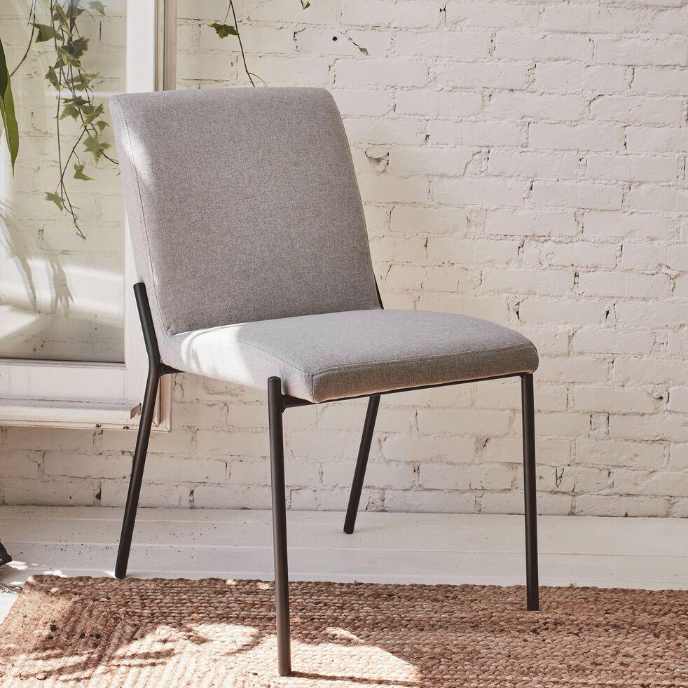 Chaise en tissu - gris borie-JASPE