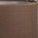 Abat-jour en tissu brun châtaignier D30cm-MISTRAL