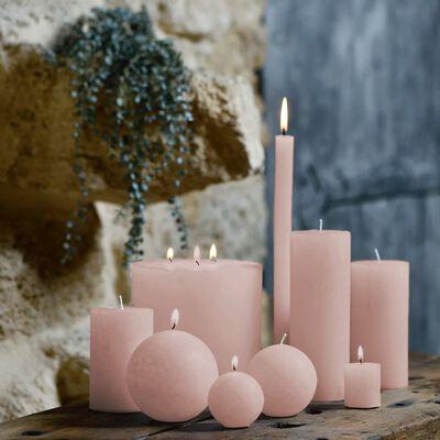 Bougie lanterne - rose grège D15xH15cm-BEJAIA