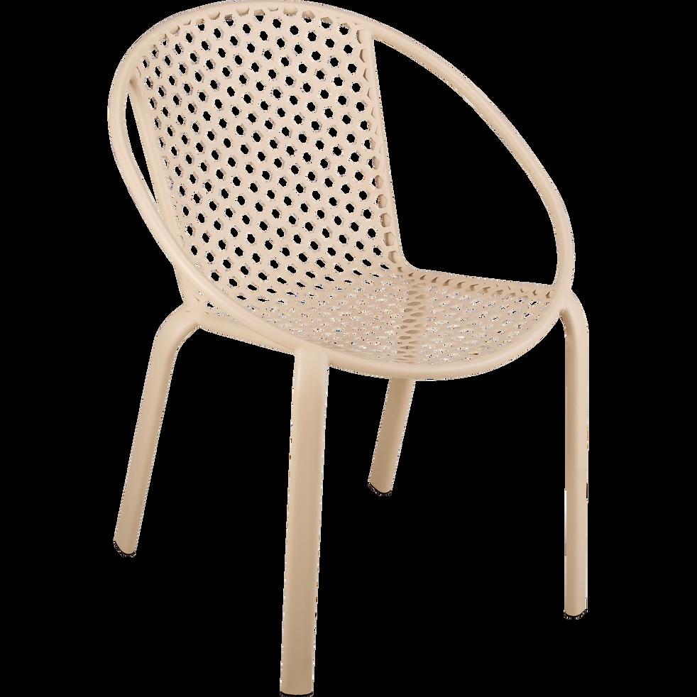 Fauteuil de jardin empilable en acier beige roucas clemence fauteuils de jardin alinea - Alinea fauteuil jardin ...