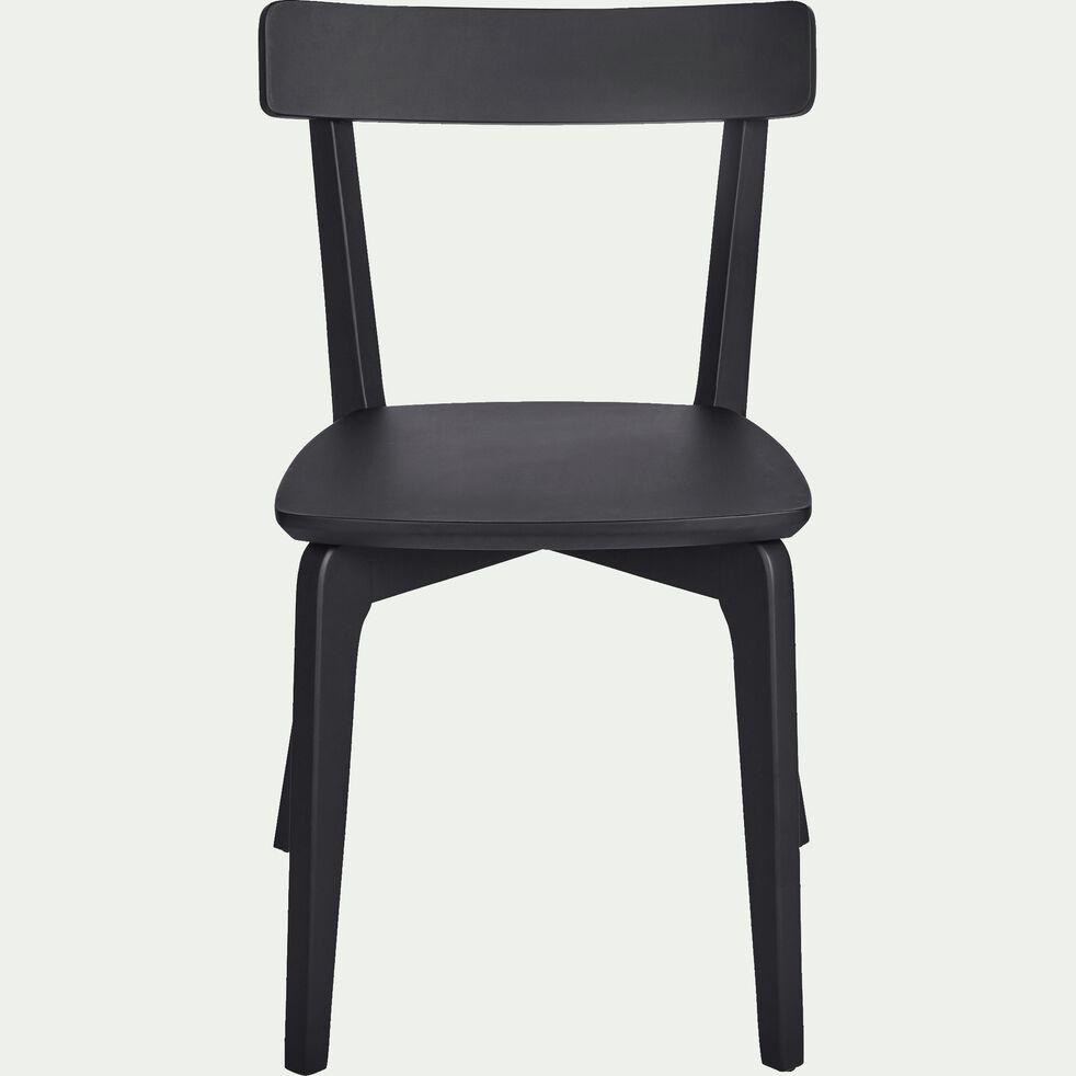 Chaises Alinea Salle A Manger suzie - chaise en bois noir calabrun