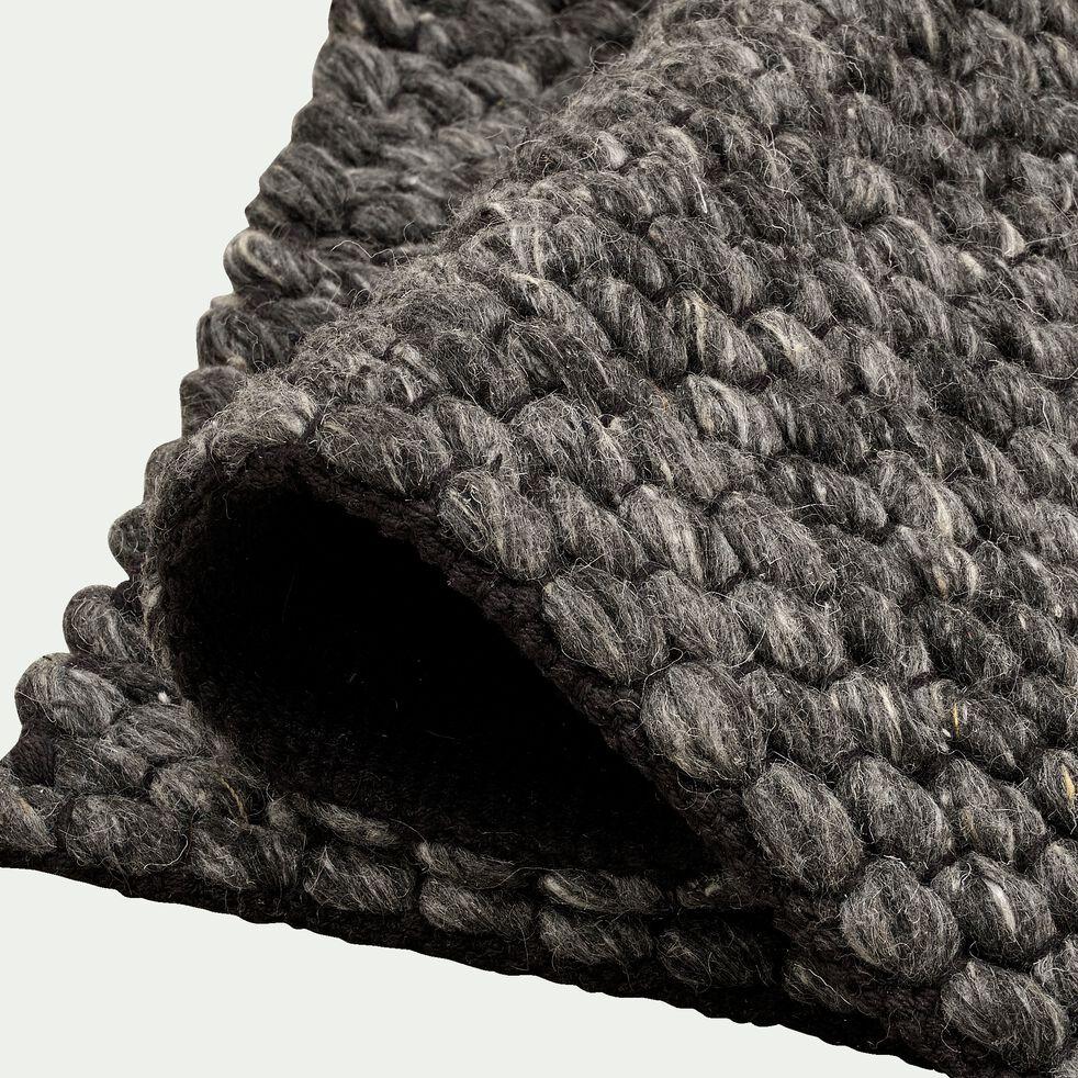 Tapis en laine et coton - gris foncé 120x170cm-MAUSSANE