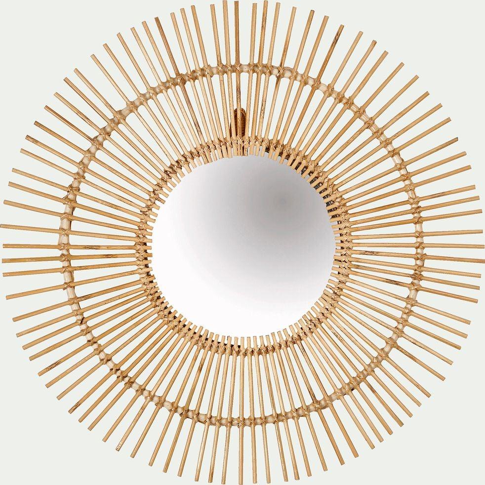 Miroir soleil en rotin D60cm-AMELIA