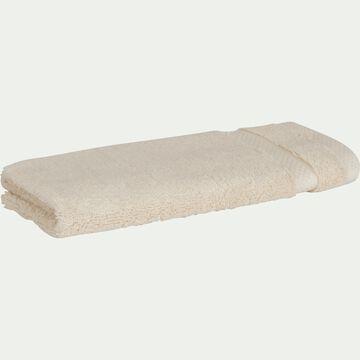 Serviette invité en coton peigné - beige roucas 30x50cm-AZUR