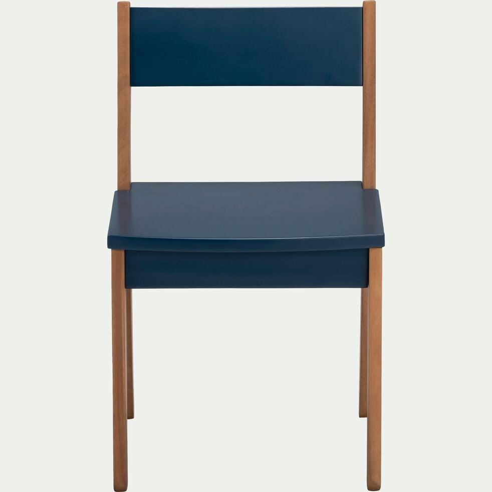 Chaise en acacia pour enfant bleu figuerolles-RAPHAEL