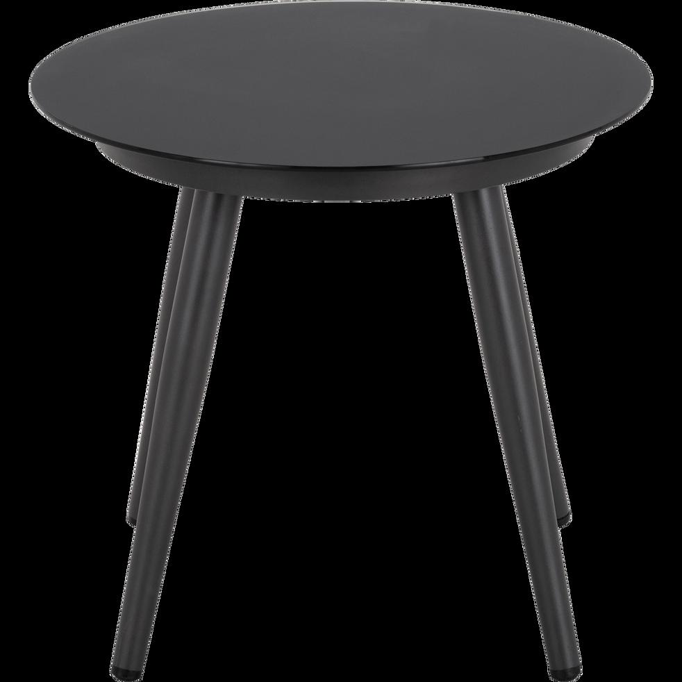 Table de jardin en aluminium gris anthracite-PADOUE