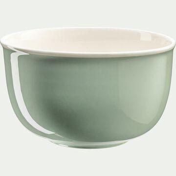 Saladier en porcelaine - vert olivier D26cm-CAFI