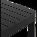 Table de jardin extensible en aluminium noir (8 à 10 places)-GUILIA