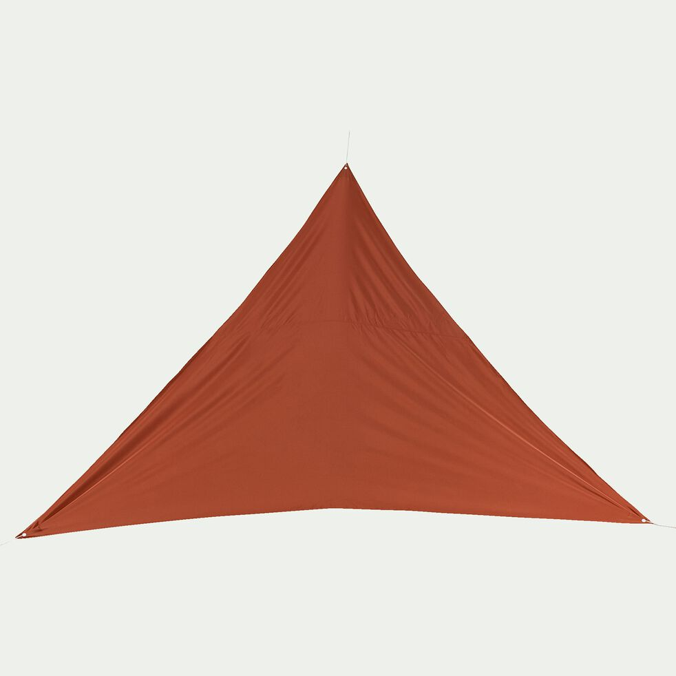 Voile d'ombrage triangle 3,6m - rouge rustrel-Rosa