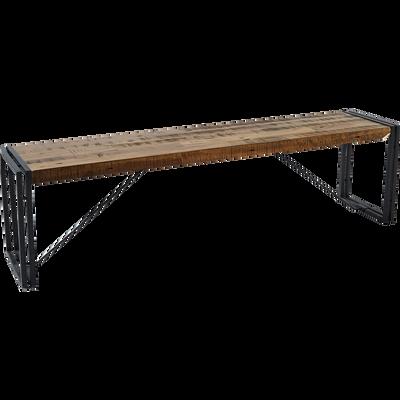 Banc en bois et métal - L167cm-OSCAR