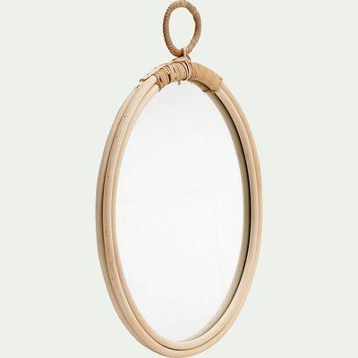 Miroir rond en rotin D38cm-LINDO