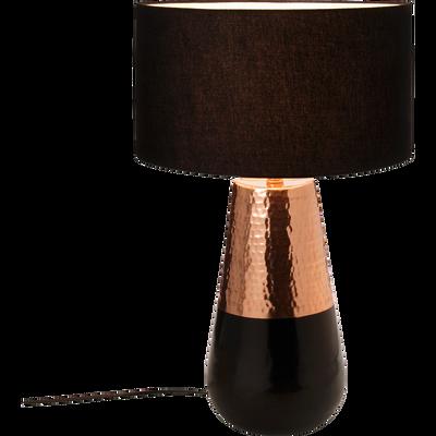 Lampe à poser en aluminium cuivré avec abat-jour H48cm-Mulshi