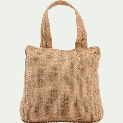 Cale-porte en sable et tissu H18cm-KOLAN