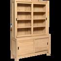 Vaisselier en chêne avec portes coulissantes - Livré monté-EMOTION