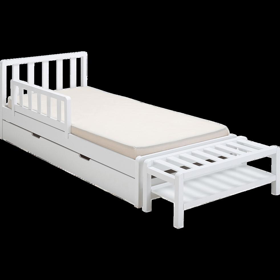 Bout de lit 1 place blanc-JAUME
