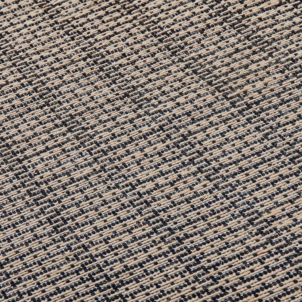 Tapis carré en jute - noir et naturel 200x200cm-MEJAN