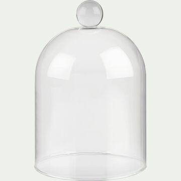 Cloche à bougie en verre - transparent H14cm-ARENAS