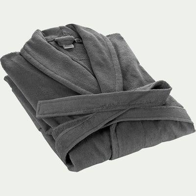Peignoir en coton S/M gris restanque-AZUR