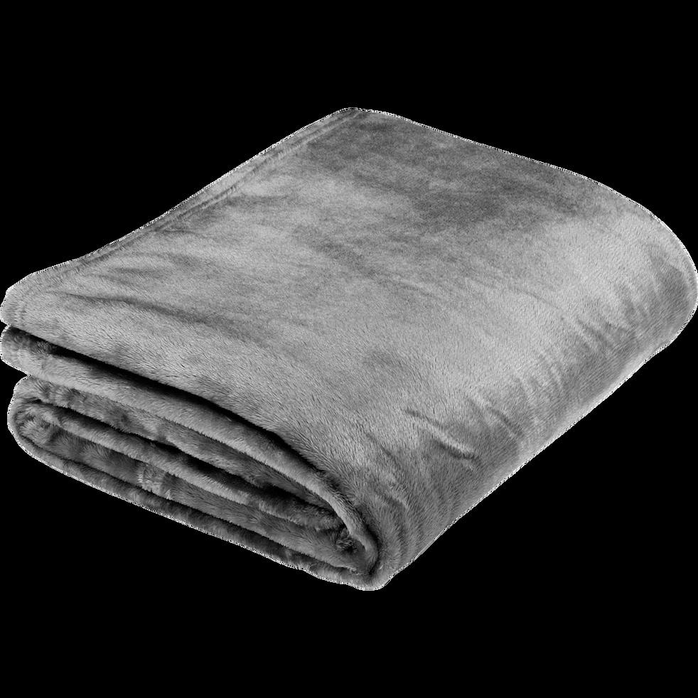 Plaid doux gris restanque - Plusieurs tailles-ROBIN